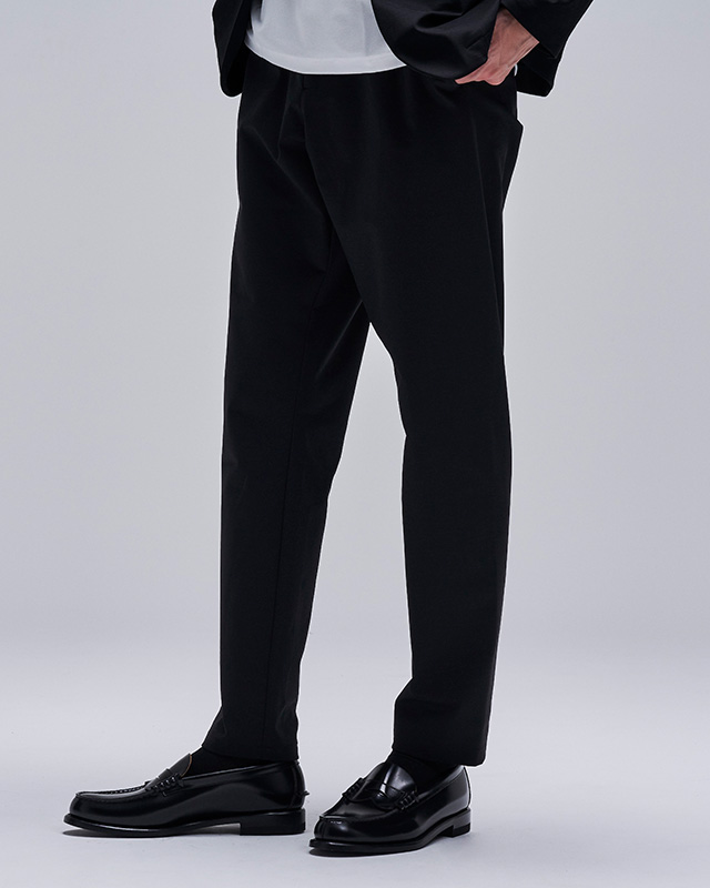 H.I.P. by SOLIDO | DOZUME PONTE FABRIC SLIM FIT TROUSERS