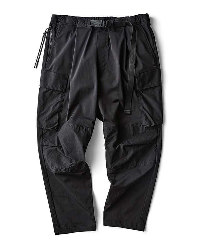 H.I.P. by SOLIDO | LUX NYLON TWILL RELAX FIT CARGO PANTS