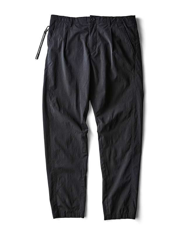 H.I.P. by SOLIDO | NYLON COTTON WASHER CLOTH TAPERED FIT TROUSERS