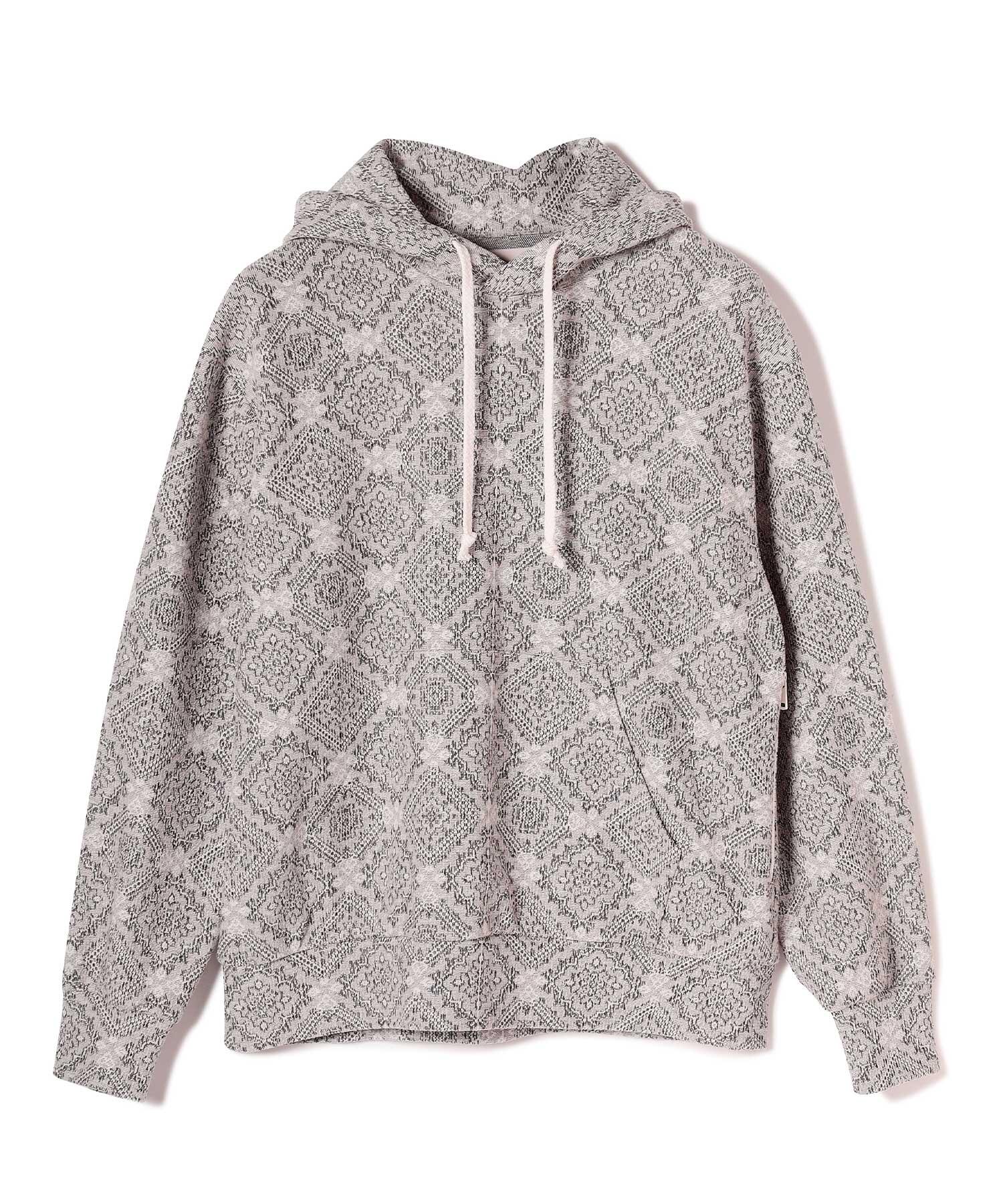 Seagreen RUG JACQUARD hoodie